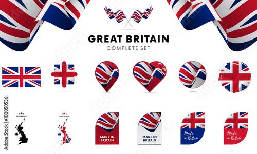Foto Great Britain complete set. Vector illustration.
