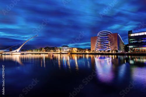 Canvas Print Samuel Beckett Bridge Dublin, Ireland