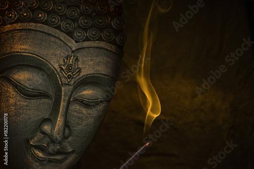 Obraz na płótnie Buddha image with incense