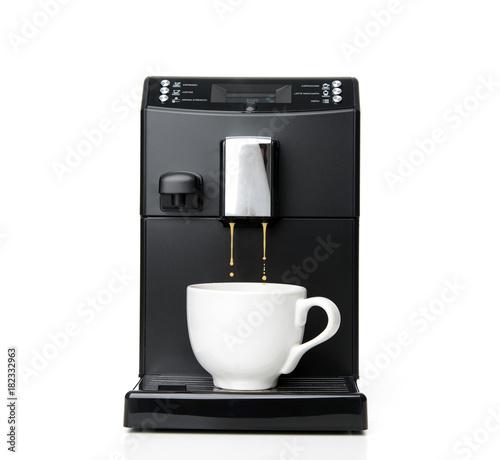 Espresso and americano coffee machine maker Fototapeta