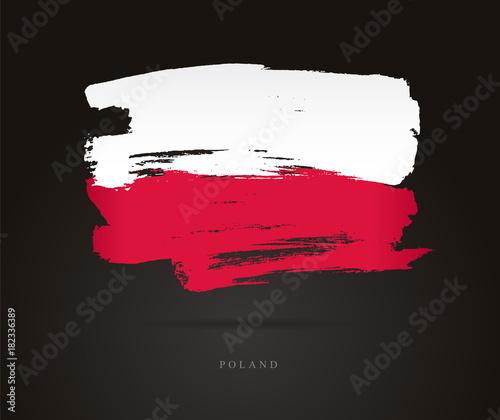 Photo Flag of Poland. Abstract concept