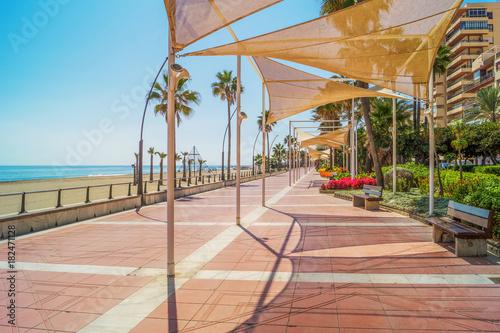 Fototapeta Promenade in Estepona, Andalusia, Spain