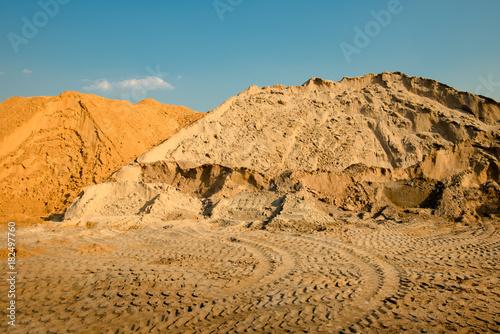 Construction sand pile