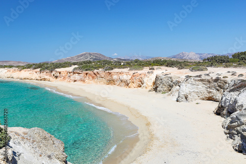 Платно Hawaii Beach of Alyko Peninsula in Naxos island, Greece