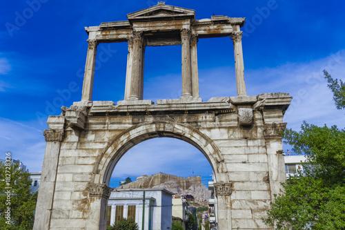 Valokuvatapetti Athens, Greece Hadrian's Arch day view
