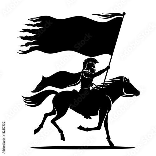 Slika na platnu Warrior on horseback.