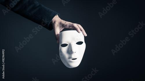 Canvas Print 仮面とビジネスマン