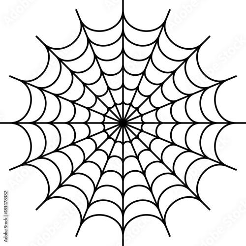 Fotografia Spider Web Icon Design