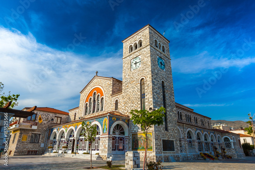 Beautiful Catholic church of the Annunciation, with wall paintings Fototapeta