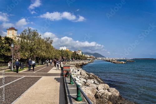 Canvas Print Salerno, Uferpromenade