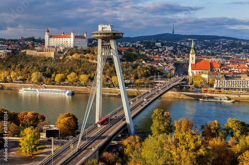 Wallpaper Mural Top view of Bratislava, capital of Slovakia