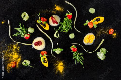 Canvas Print Abstract gastronomy vanguard concept molecular cuisine background