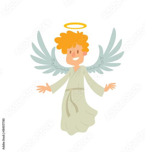 Fotografia Vector cartoon image of a little male angel