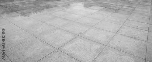 Fotografia Perspective View of Monotone Gray Brick Stone on The Ground for Street Road