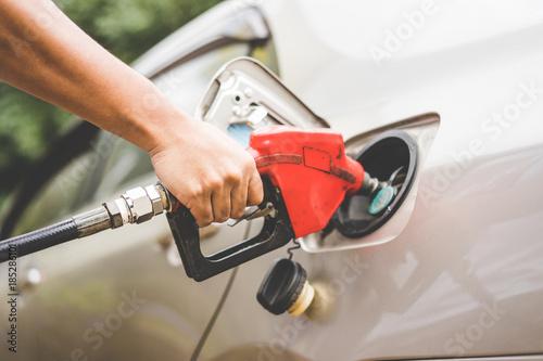 Fotografie, Tablou Car refueling on petrol station