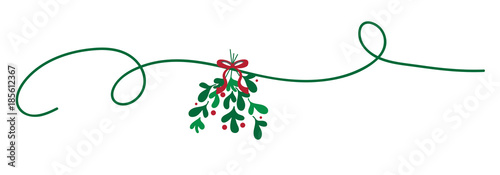 Fotografia Merry Christmas Mistletoe