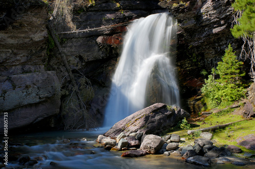 Fotografie, Obraz Baring Creek Falls, Glacier National Park, Montana, United States of America, No