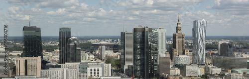 Fototapeta premium Centrum finansowe Panorama Warszawy