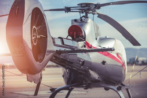 Photo Modern Helicopter Closeup