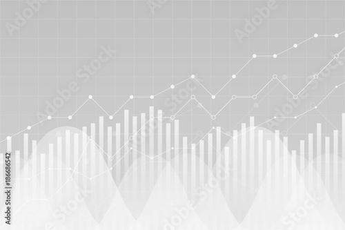 Fotografia Financial data graph chart, vector illustration