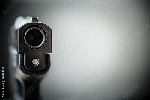 Obraz na płótnie Pistol Handgun and Background