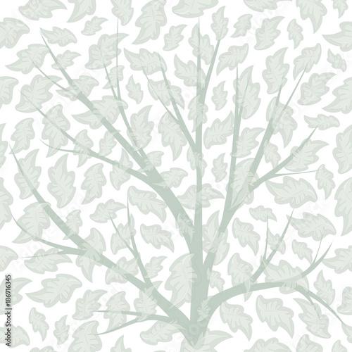 Wzór z płatkami, gałęziami. Eps10 wektor Do projektowania tła, tkaniny. Ton pastelowy.