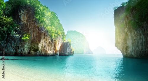 Canvas Print beach of small island, Krabi province, Thailand