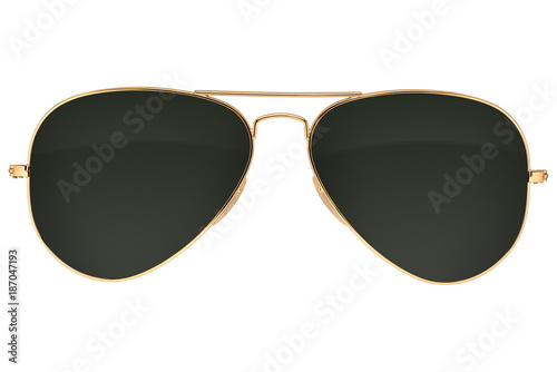 Aviator sunglasses isolated Fototapeta