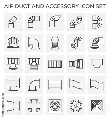 Fotografía air duct icon