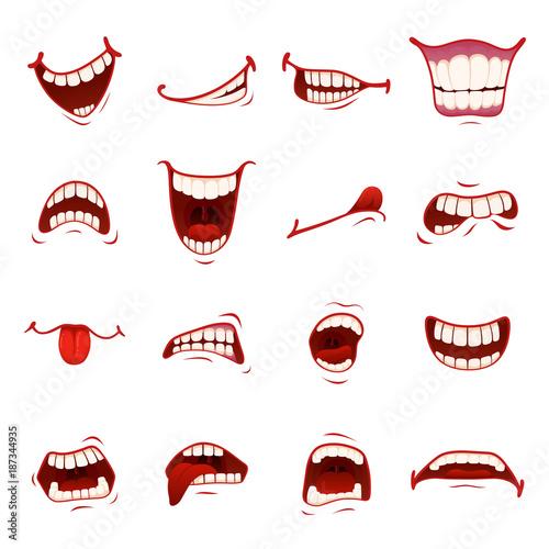 Fotografia Cartoon mouth with teeth