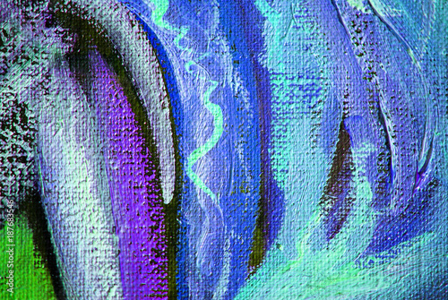 modern abstract oil painting on canvas with texture, illustration