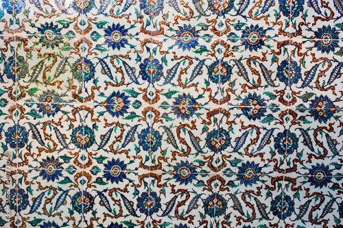 Ottomańskie Starożytne Ręcznie Wykonane Płytki Tureckie
