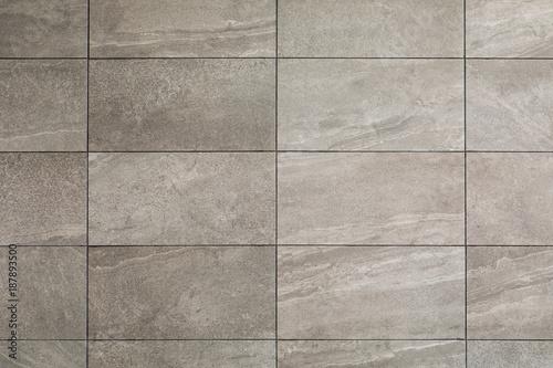 Fototapeta gray tile wall, close up background