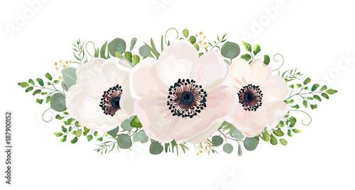 Cuadros en Lienzo Flower Bouquet vector watercolor design element