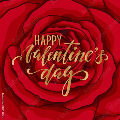 Canvas Print happy Valentine's day