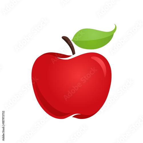 Slika na platnu Apple icon isolated vector illustration, color drawing sign, symbol