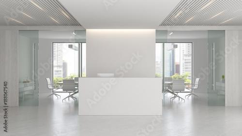 Fotografia Interior of reception and meeting room 3D illustration