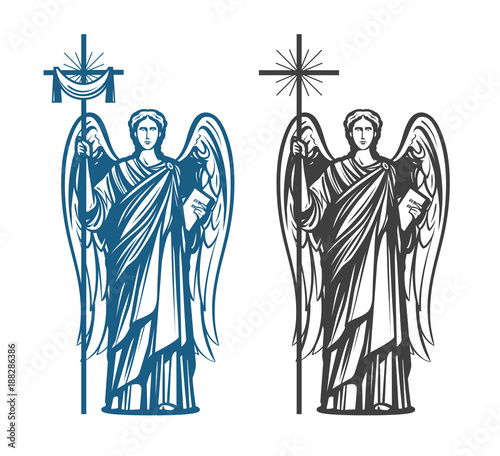 Tableau sur Toile Angel, Archangel with wings