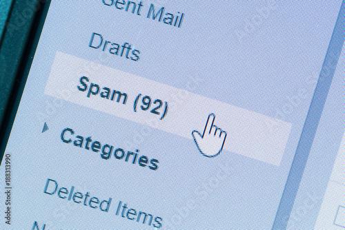 Spam message in folder