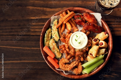 Fotografia, Obraz Game day Platter with appetizers