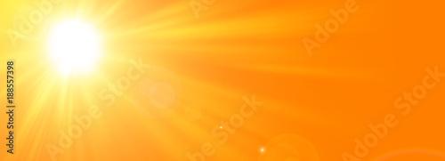 Fotografie, Obraz Sfondo astratto soleggiato di estate di natura con il sole splendente