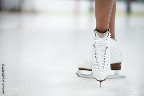 Fototapeta Figure Skates Close Up on Ice