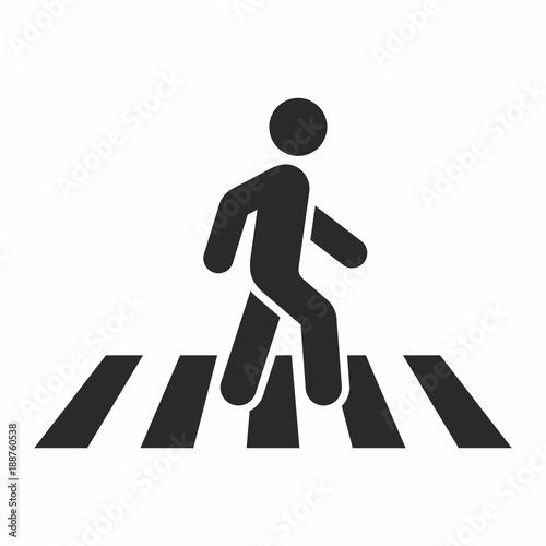 Fotografija Pedestrian crossing icon