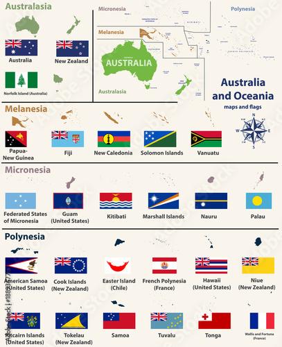 Canvas Print Australia and Oceania(include Australasia, Micronesia, Melanesia and Polynesia)