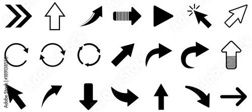 Foto Black arrow vector icon pack