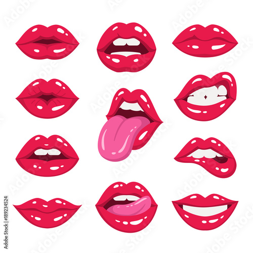 Carta da parati Red lips collection
