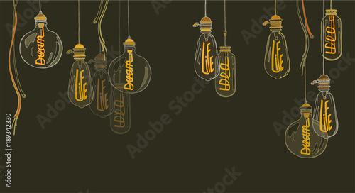Fotografia A set of lamps of Edison
