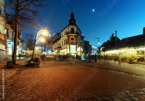Traditional street buildings in Zakopane, Poland