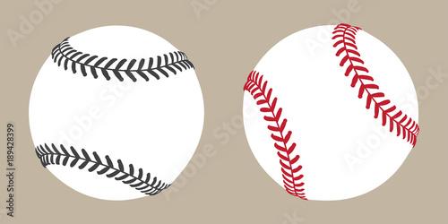 Canvas Print baseball vector ball icon soft ball tennis illustration character