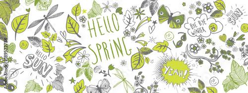 Spring doodles background